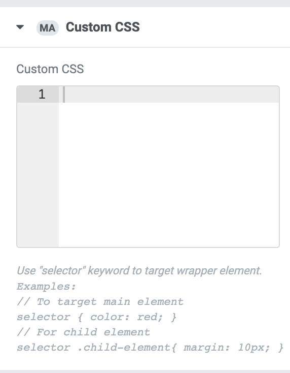 Как добавить в бесплатной версии Elementor CSS